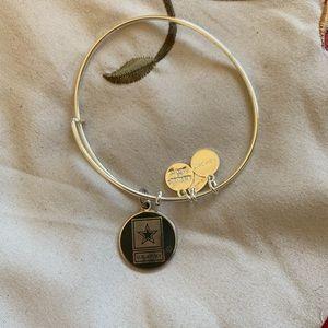 Alex and ani army sterling silver bracelet